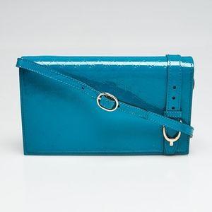GUCCI Blue Micgroguccissima Patent Leather bag